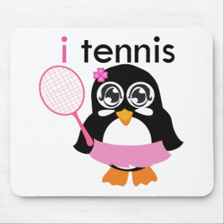 i Tennis Penguin Mouse Pads
