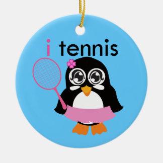 i Tennis Penguin Christmas Ornaments