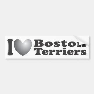I terrieres de Boston del corazón - pegatina para  Pegatina Para Auto
