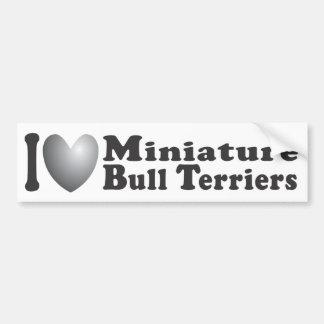 I terrieres de Bull miniatura del corazón - pegati Pegatina Para Auto