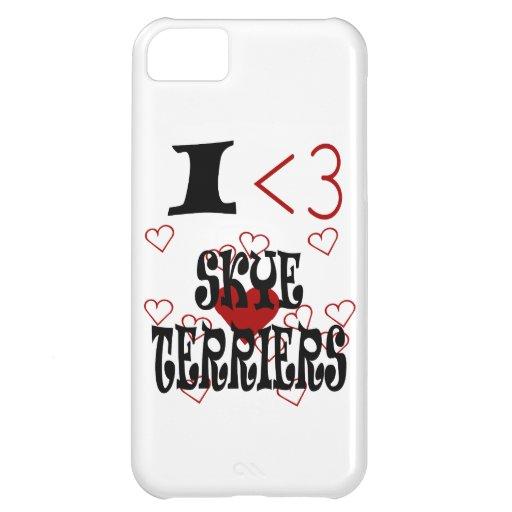 I terrieres de Skye del corazón Funda Para iPhone 5C