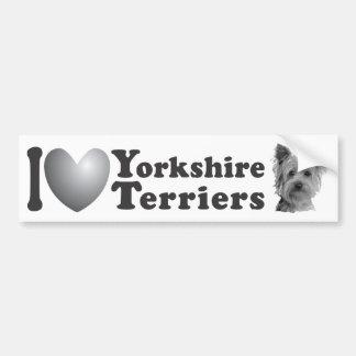 I terrieres de Yorkshire del corazón w/Image - Sti Pegatina Para Auto