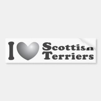 I terrieres escoceses del corazón - pegatina para  pegatina para auto