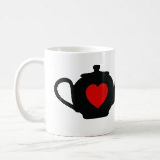 I tetera del corazón taza