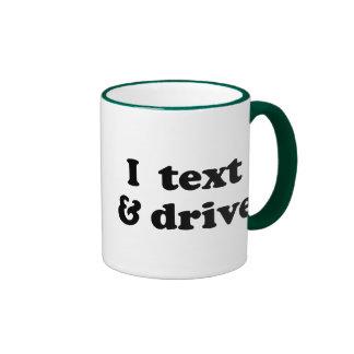 I texto y impulsión taza de café