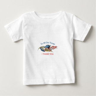 I THANK OUR TROOPS INFANT T-SHIRT