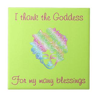 I thank the Goddess for my many blessings tile