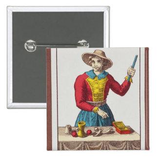 I The Magician, seven tarot cards Pinback Button