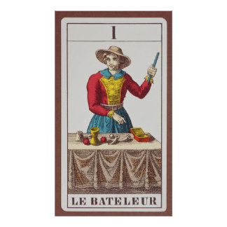 I The Magician, seven tarot cards Posters