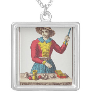 I The Magician, seven tarot cards Square Pendant Necklace