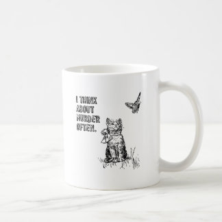 I think about murder often classic white coffee mug