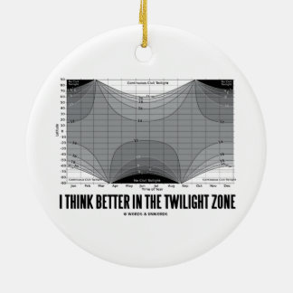 I Think Better In The Twilight Zone (Latitude) Ceramic Ornament