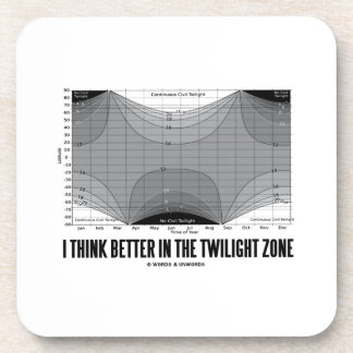 I Think Better In The Twilight Zone (Latitude) Drink Coaster