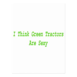 I Think Green Tractors Are Postcard