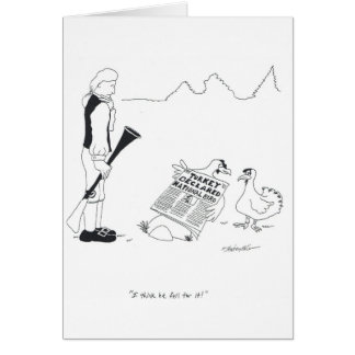 I think he fell for it. greeting card