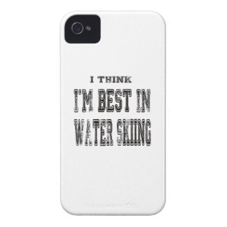 I Think I m Best In Water Skiing iPhone 4 Covers