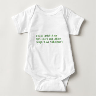 I think I might have Alzheimer's Baby Bodysuit