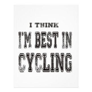 I Think I'm Best In Cycling Letterhead Design