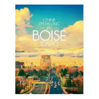 I Think I'm Falling For Boise Idaho Postcard