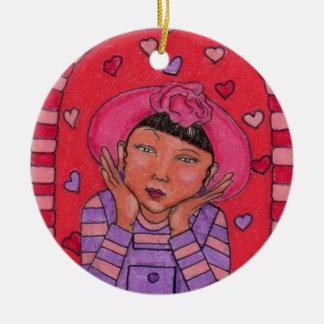 I Think I'm In Love Product Ceramic Ornament