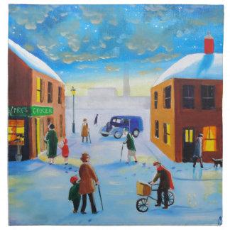 """I think my bike is broken"" UK art Gordon Bruce Cloth Napkin"