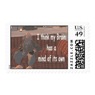 I think my brain has a mind of its own postage