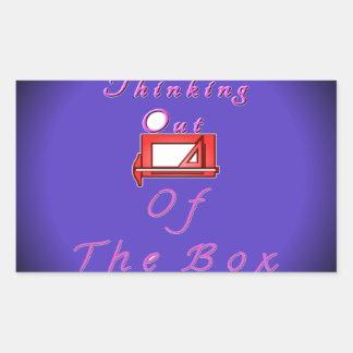 I think outside the box. rectangular sticker