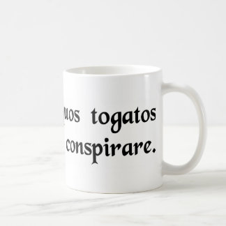 I think some people in togas are plotting....... coffee mug