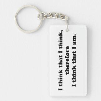 I Think That I Think Keychain