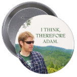 I THINK,THEREFORE ADAM. PINBACK BUTTONS