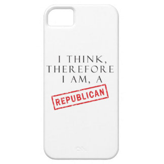 I Think, Therefore I Am A Republican iPhone SE/5/5s Case