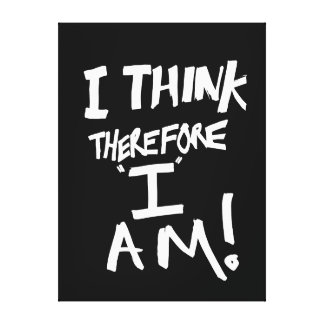 I think, therefore I am Stretched Canvas Print