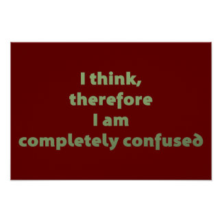I Think Therefore I Am Completely Confused Posters
