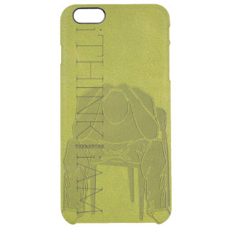 i THINK THEREFORE i AM - Contemplating Man Uncommon Clearly™ Deflector iPhone 6 Plus Case