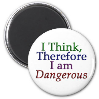 I Think, Therefore I am Dangerous Magnet