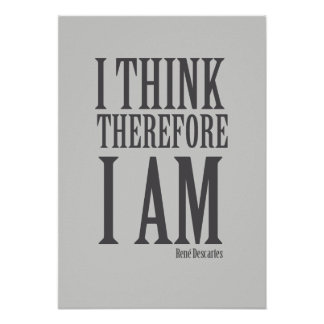 I think therefore i am poster