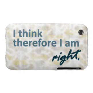 I think therefore I am right iPhone 3 Covers