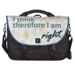 I think therefore I am right Laptop Bag