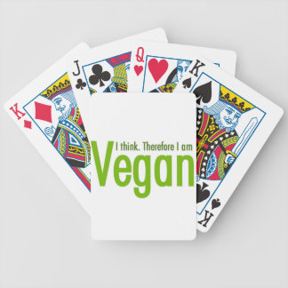 I think.  Therefore I am Vegan Bicycle Playing Cards