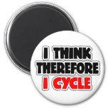 I Think Therefore I Cycle Fridge Magnets