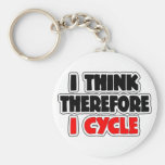 I Think Therefore I Cycle Key Chain