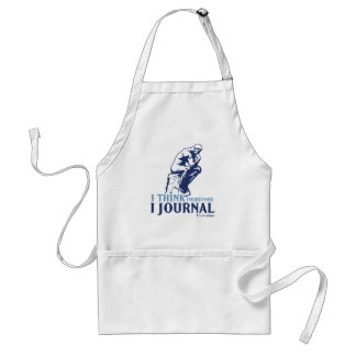I Think Therefore I Journal Adult Apron