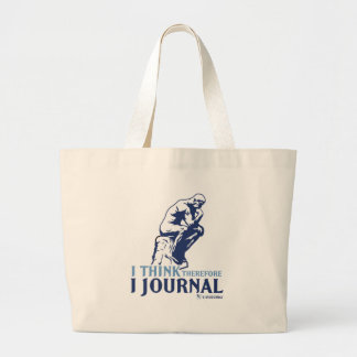I Think Therefore I Journal Canvas Bag