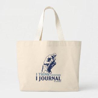 I Think Therefore I Journal Jumbo Tote Bag