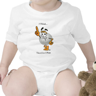 I Think...  Therefore I Putt Baby Bodysuits