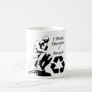 I think therefore I recycle mug