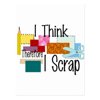 I Think Therefore I Scrap Postcard