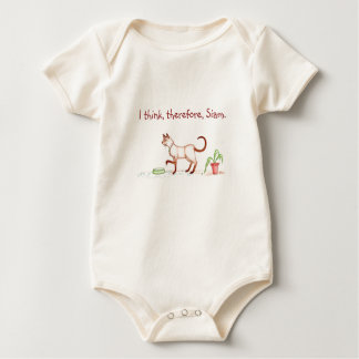 I think, therefore, Siam Baby Shirt