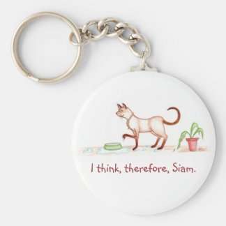 I think, therefore, Siam Keychain