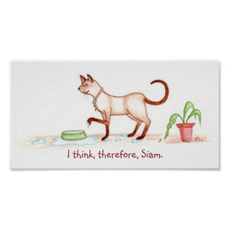I think therefore Siam Print